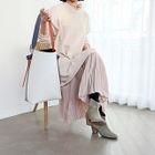 Layered-Hem Frilled Maxi Pullover Dress 1596