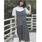 Printed Midi Pinafore Dress 1596