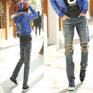Buy Jean Stone Distressed Jeans 1021656412