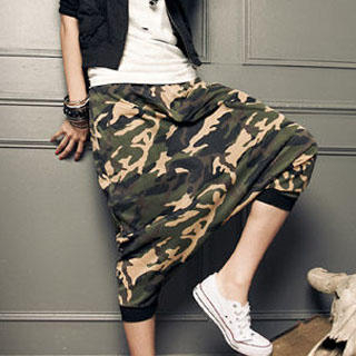 Buy PUFFY Camouflage Harem Pants Green – One Size 1022979303