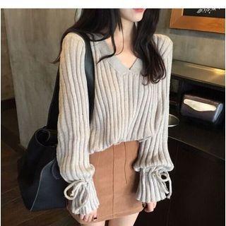 V-Neck Ribbed Sweater 1054266415
