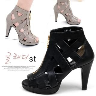 Picture of Miz shoes Zip-Up Open-Toe Ankle Length Sandals 1022547317 (Sandals, Miz shoes Shoes, Korea Shoes, Womens Shoes, Womens Sandals)
