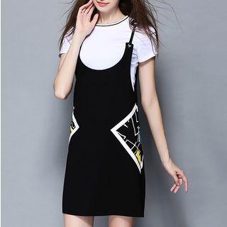 Set: Short-Sleeve T-Shirt + Strappy Dress 1051619507