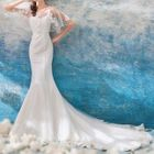 Sheer Panel Evening Gown 1596