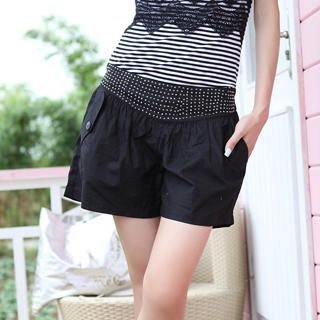 Picture of 19th Street Rhinestone-Waist Shorts 1023052550 (Womens Shorts, 19th Street Pants, China Pants)