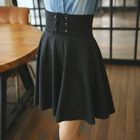 Lace-Up A-Line Skirt 1596