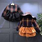 Set: Kids Plaid Sweater + Layered Skirt 1596