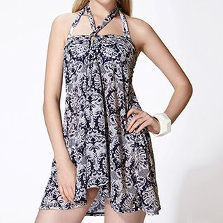 Set: Patterned Bikini + Sundress 1045378481