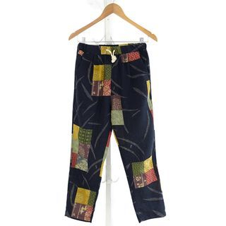 Patchwork Tapered Pants