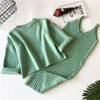 Set: Knit Jumper Dress + Long-Sleeve Sweater 1596