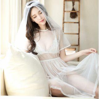 Bride   White   Size   One   Set