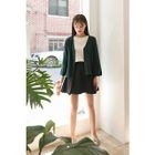 V-Neck Buttoned Wool Cardigan 1596