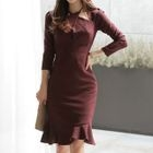 Ruffled Sheath Dress 1596