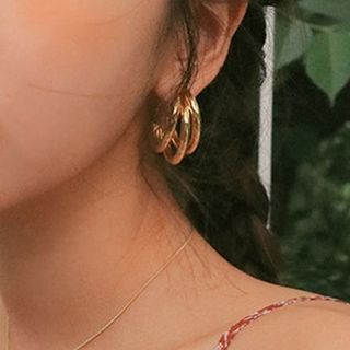 Image of Alloy Layered Hoop Earrings
