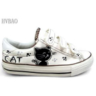 Cat Print Velcro Canvas Sneakers от YesStyle.com INT
