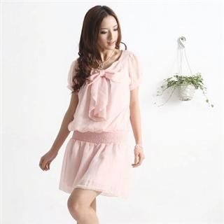 Buy Tracy Bow Front Chiffon Dress 1022596164