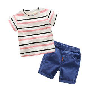 Short-sleeve   T-Shirt   Stripe   Short   Kid