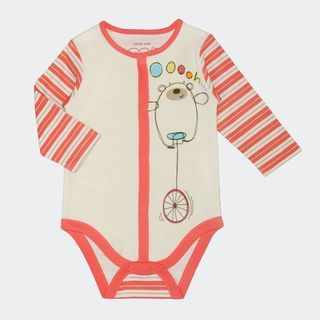 Baby Stripe Sleeve Printed Bodysuit
