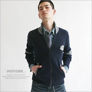 Picture of MOTOBE Mock Neck Knit Zip Cardigan 1022398752 (MOTOBE, Mens Knits, Korea)