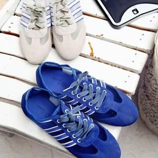 Buy REDOPIN Mesh Trim Lace-Up Sneakers 1022752356