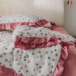 Bedding   Floral   Print   Bed   Set