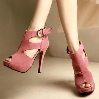 Buy Kvoll Genuine Suede Platform Heels 1022654153