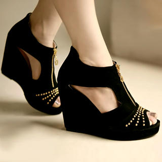 Buy Kvoll Zip-Front Wedges 1022654467