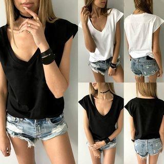 V-Neck Short-Sleeve T-Shirt 1063376177