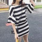 Set: Stripe Bell-Sleeve Top + Stripe Mini Skirt от YesStyle.com INT
