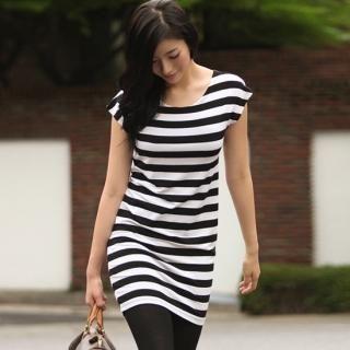 Buy ode' Short Sleeve Back-Open Dress 1023020959