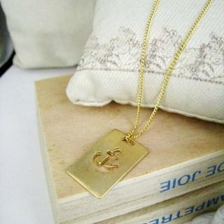 Gold Sailor Charm Necklace Gold - One