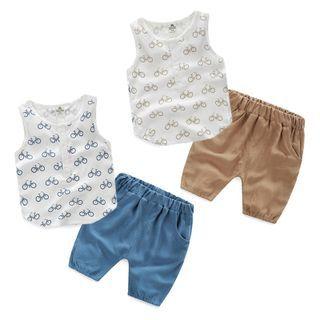 Kids Set : Printed Tank Top + Shorts 1049829238