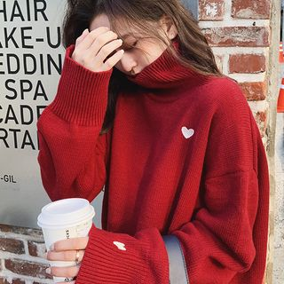 Turtleneck   Sweater   Heart