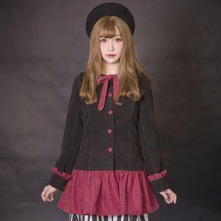 Ribbon Sailor Collar Lace Up Top 1057022816