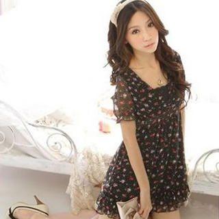 Buy Tokyo Fashion Floral Print Chiffon Dress 1022412051