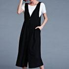 Set: Short Sleeve T-Shirt + Pinafore Jumpsuit 1596