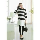 Maternity Dip-Back Stripe Knit Dress 1596