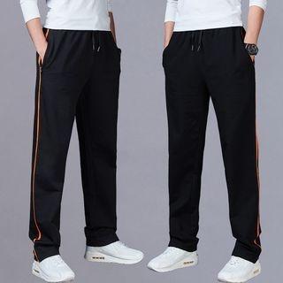 Contrast Trim Sweatpants 1066736067