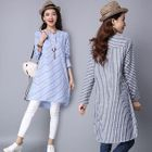 Long-Sleeve Striped Dress от YesStyle.com INT