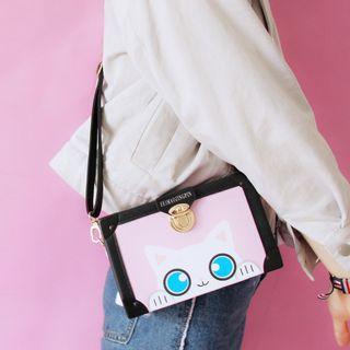 Cat Print Crossbody Bag