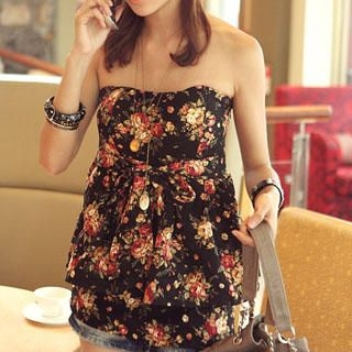 Buy PUFFY Floral Print Tube Top 1022814821