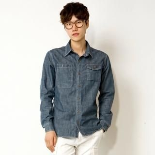Flap-Pocket Denim Shirt