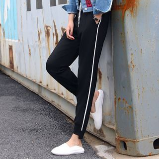 Contrast Trim Sweatpants 1063010734
