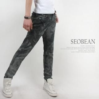Buy SEOBEAN Washed Slim-Fit Jeans 1022828344