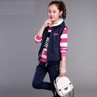 Kids Set: Vest + Stripe Long-Sleeve Hoodie + Sweatpants 1596