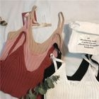 Ribbed Strap Knit Top 1596