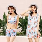 Set: Pineapple Print Bikini + Tank Top 1596