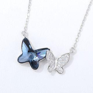 Swarovski   Butterfly   Necklace   Crystal