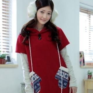 Buy CLICK Mitten Appliqu  Pocket Hooded Dress 1021850422