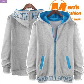 Two-Tone Lettering Hoodie 1049769535